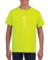 Boys' T- Shirts - Safety Green Ex-Large